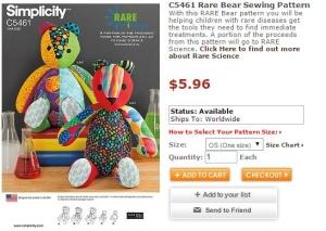 Rare Bear Sewing Pattern